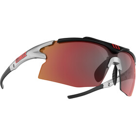 Bliz Tempo M12 Occhiali, shiny silver/rubber black/red multi lens